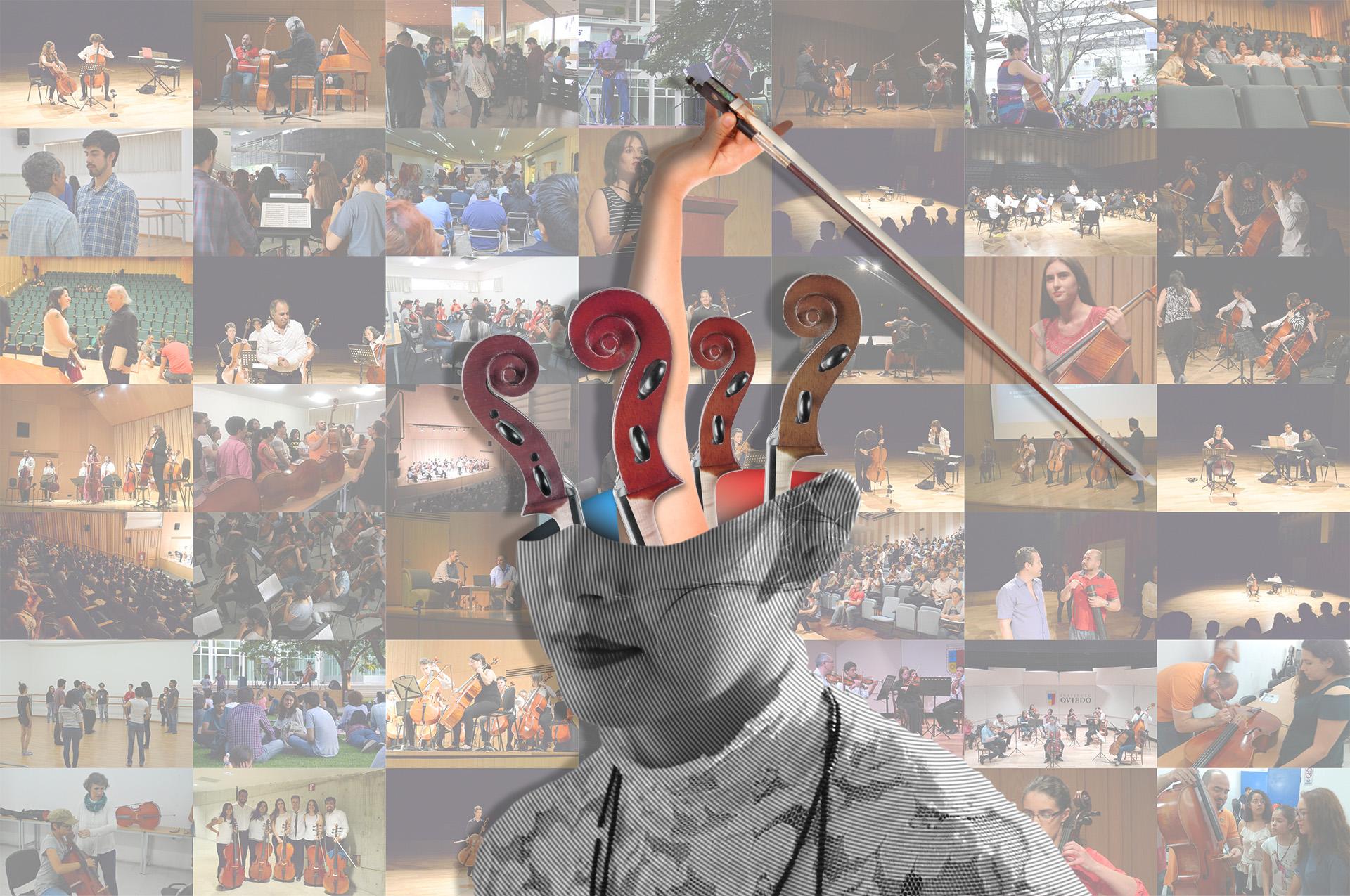 Collage de imágenes de las 3 ediciones del FIV León