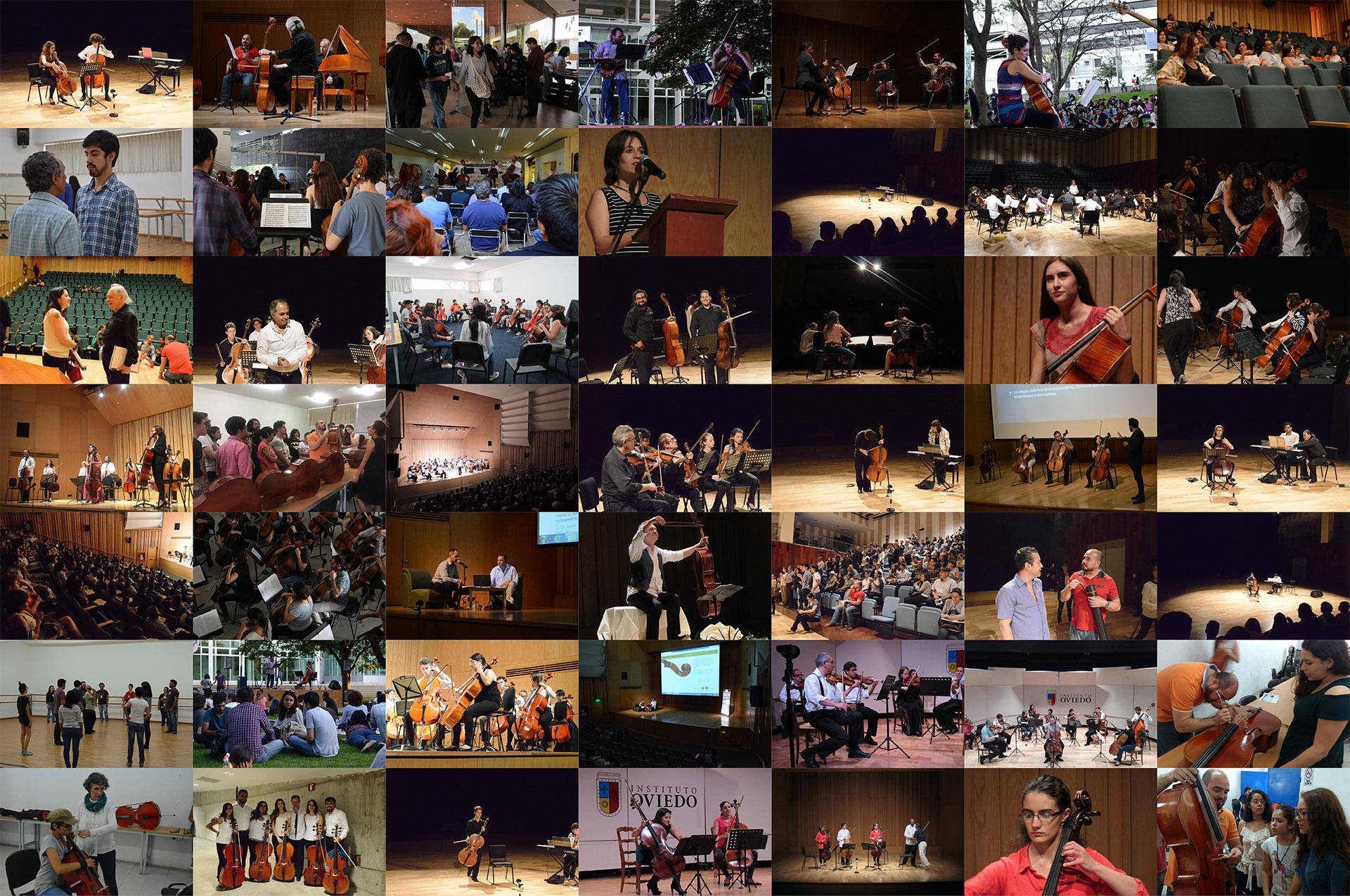 Collage con fotografías del FIV León